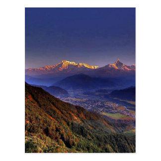 Ansicht-Landschaft: HIMALAJA POKHARA NEPAL Postkarte