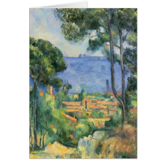 Ansicht Pauls Cezanne- von L'Estaque und Chateaux Grußkarte