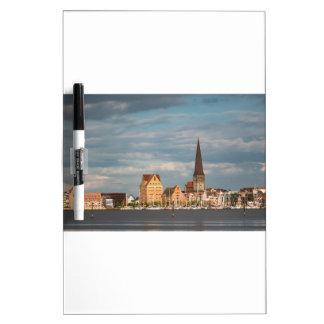 Ansicht über den Fluss Warnow nach Rostock Memoboard