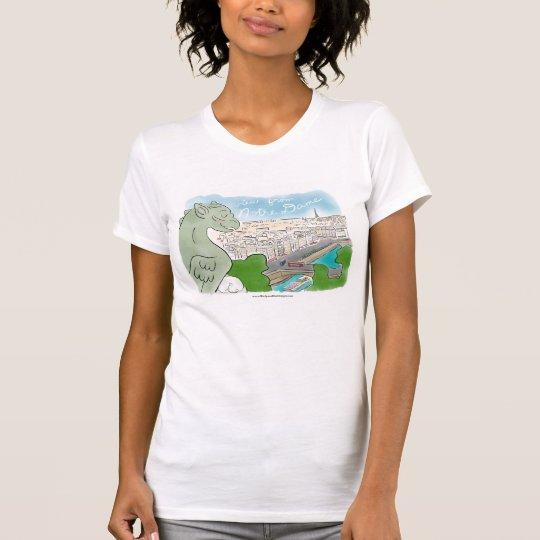 Ansicht vom Notre Damekitty-Katzen-T - Shirt