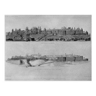 Ansicht von Carcassonne von der Westseite Postkarte