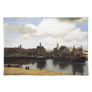 Ansicht von Delft durch Johannes Vermeer Tischset