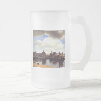 Ansicht von Delft Mattglas Bierglas