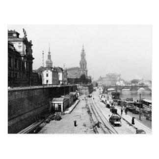Ansicht von Dresden vom Bruehlsche Terrasse Postkarte
