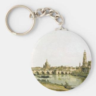 Ansicht von Dresden von der rechten Bank der Elbes Schlüsselanhänger