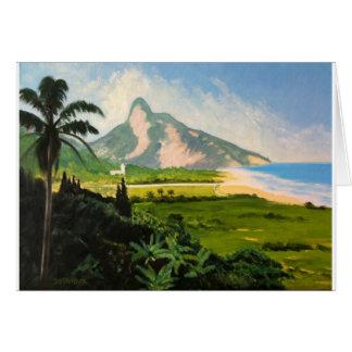 Ansicht von Gavea Strand Grußkarte