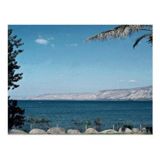 Ansicht von Meer von Galiläa vom Südufer, Israel Postkarte