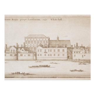 Ansicht von Whitehall, 1645 Postkarte