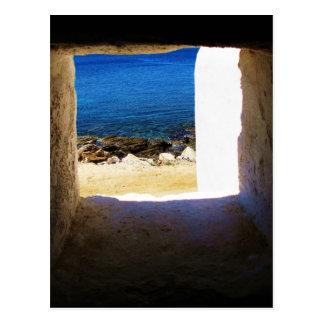 Ansicht zum Meer - Mykonos, Griechenland Postkarte
