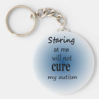 Anstarren entlang ich…. Autismus Schlüsselanhänger