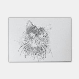 Anstarrenkatzen-Gesichts-Kontur kundengerecht Post-it Klebezettel