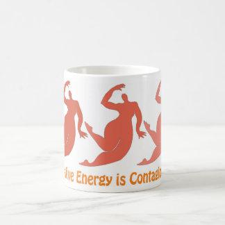 Ansteckende positive Energie-Tasse Kaffeetasse