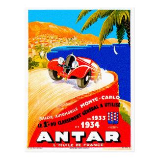 Antar Gas ~ Vintage Auto-Straßen-Rennen-Anzeige Postkarte