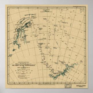 """Antartic Regionen """"Antrieb der Karte der Poster"""