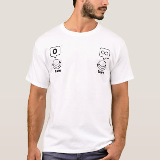 Anteil/Sozialknopf: Anteil (Nippel) T-Shirt