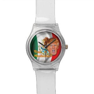 Anti-Donald Trumpf Viva Mexiko Armbanduhr