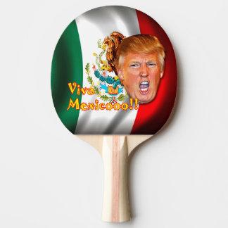 Anti-Donald Trumpf Viva Mexiko Klingeln pong Tischtennis Schläger