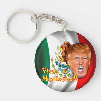 Anti-Donald Trumpf Viva Mexiko Schlüsselring