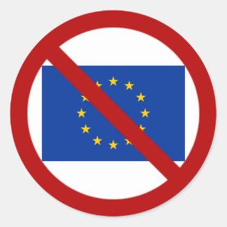 Anti-EU-Aufkleber Runder Aufkleber