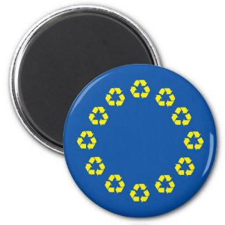 Anti-EU kennzeichnen die europäische Gewerkschaft, Runder Magnet 5,1 Cm