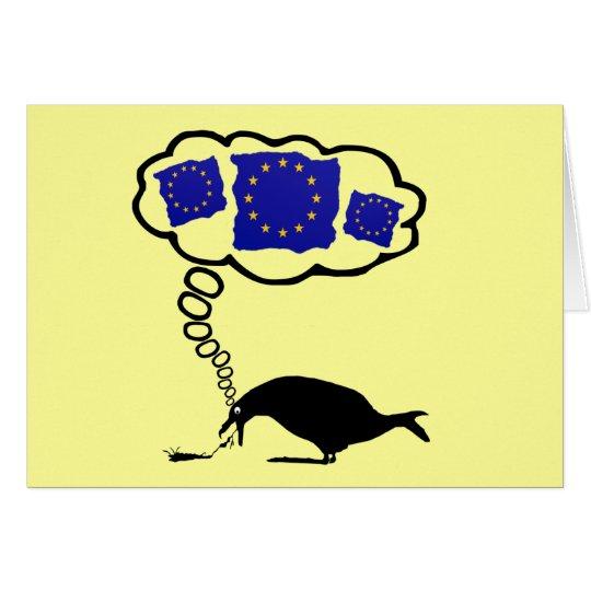 Anti-EU Pro-UKIP, EU macht mich krank Grußkarte