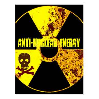 ANTI-NUKLEARER ENERGIE-PROTEST POSTKARTE