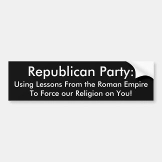 Anti-Republikanisch Autoaufkleber