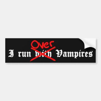 Anti sentiment drôle de vampire autocollant de voiture