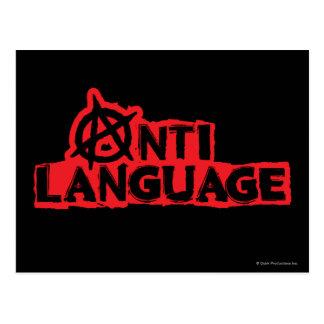 Anti-Sprache Postkarte