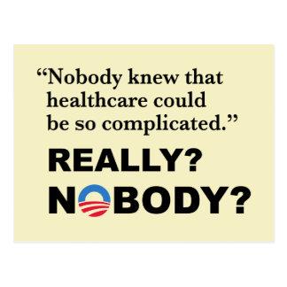 Anti-Trumpf Obamacare Postkarte