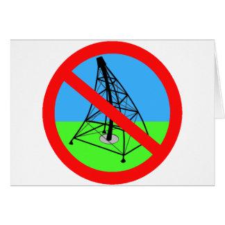 AntiFracking kein Gas-Bohrungs-Protest Grußkarte