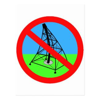 AntiFracking kein Gas-Bohrungs-Protest Postkarte