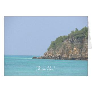 Antigua-Ozean u. Täuschung Notecard Karte