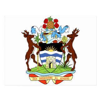 Antigua- und Barbados-Staatsangehörig-Siegel Postkarte