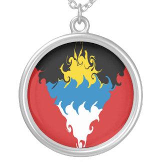 Antigua und Barbuda-Gnarly Flagge Halskette Mit Rundem Anhänger