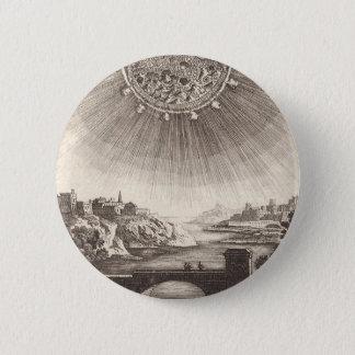 Antike Astronomie-himmlischer Himmel mit Sun durch Runder Button 5,1 Cm