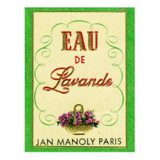 Antike französischer Lavendel-Parfüm-Postkarte Postkarte