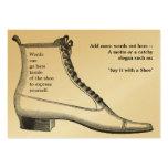 Antike Fußbekleidung Visitenkarten Vorlage