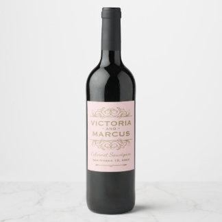 Antike Goldhochzeits-Wein-Flaschen-Bevorzugung Weinetikett
