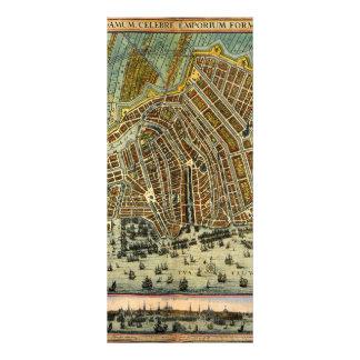 Antike Karte von Amsterdam, Holland die alias Werbekarte