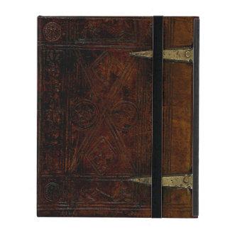 Antike Leder-Grenze gravierter Bucheinband iPad Schutzhülle
