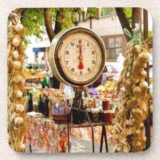 Antike Markt-Skala Getränkeuntersetzer