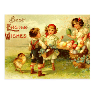 Antike Ostern-Postkarten-Kinderküken nostalgisch Postkarte