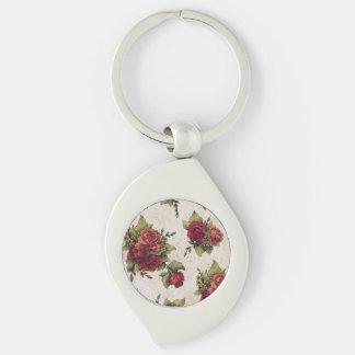 Antike Rosen-Tapete Schlüsselanhänger