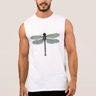 antike typografische Vintage Libelle Ärmelloses Shirt