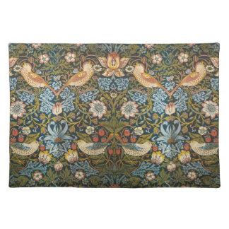 Antike viktorianische Blumen-Vögel Williams Morris Tischset