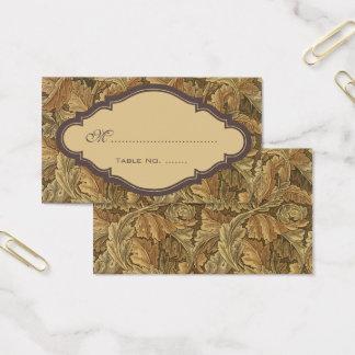 Antike viktorianische visitenkarte