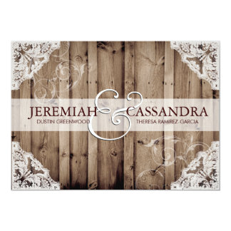 Shop Zazzle's selection of lace wedding invitations for your special day!