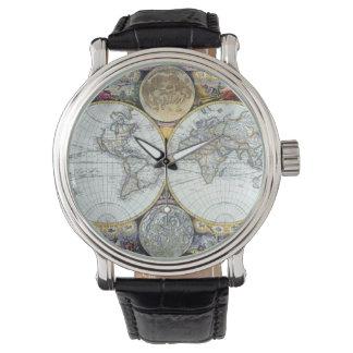 Antike Weltkarte, Atlas Maritimus durch Uhr