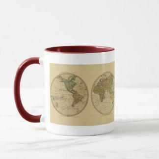 Antiken-Weltkarte 1786 durch William Faden Tasse